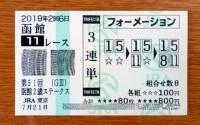 函館2歳S2019的中/競馬予想無料